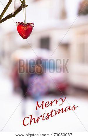 Christmas Heart Street Scene