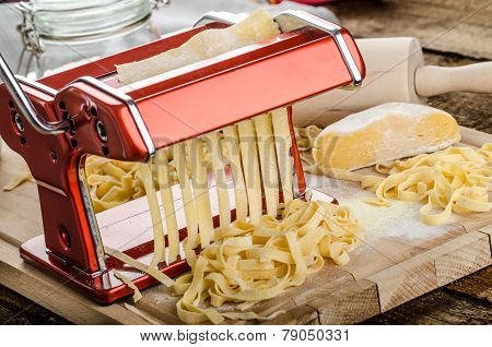 Production Of Homemade Pasta - Italian Pasta Grinder