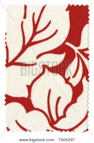Floral Red/White Fabric Swatch