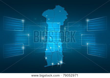 Benin Map World Map News Communication Blue