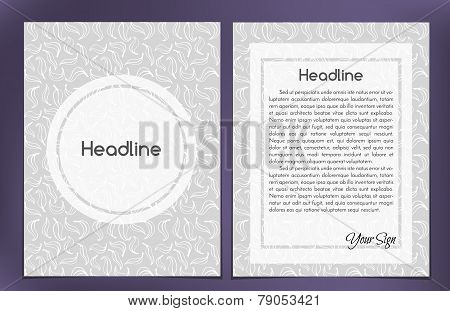 Vector Leaflet, Brochure, Cover Layout Template