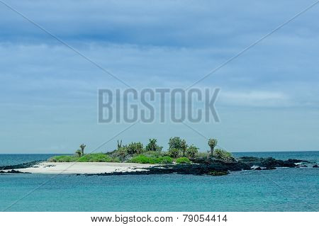 beautiful islet in the galapagos islands archipelago
