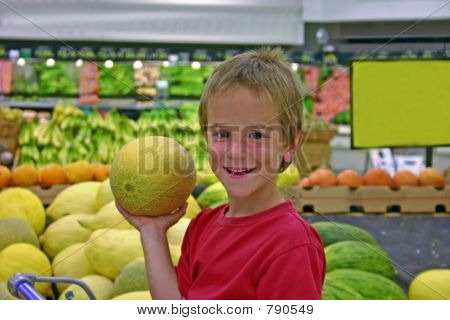 Boy in Produce