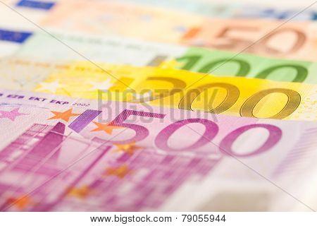 Euro bills background