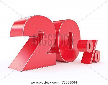 3D rendering of a 20 percent discount