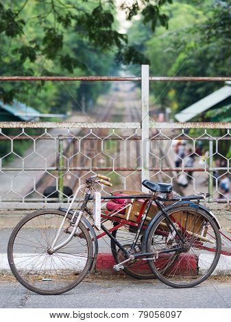 Cyclo In Yangon, Myanmar