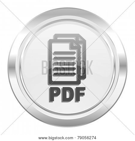 pdf metallic icon pdf file sign