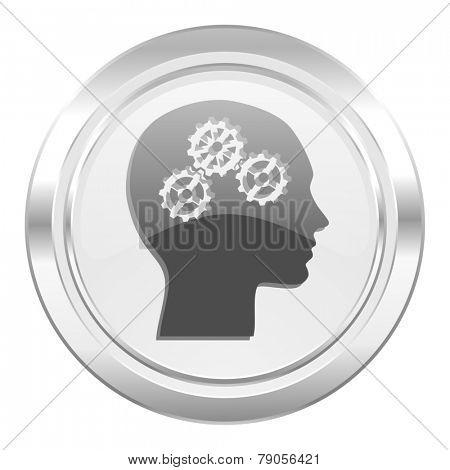 head metallic icon human head sign