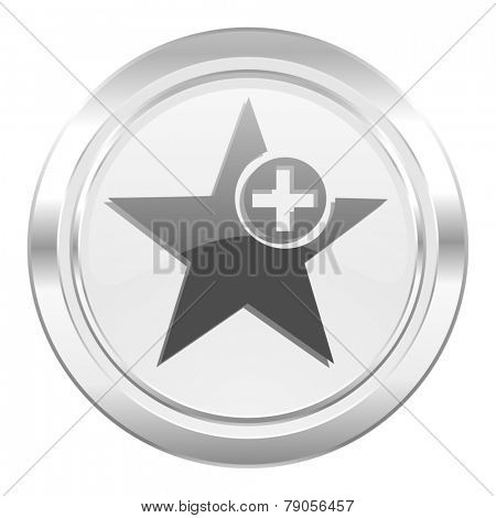 star metallic icon add favourite sign
