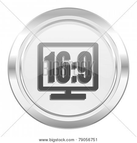16 9 display metallic icon