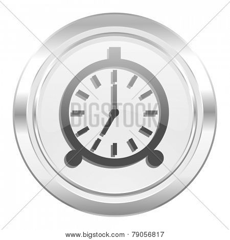alarm metallic icon alarm clock sign
