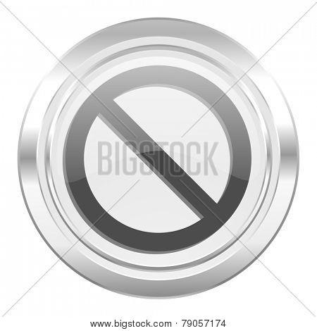 access denied metallic icon