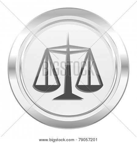 justice metallic icon law sign