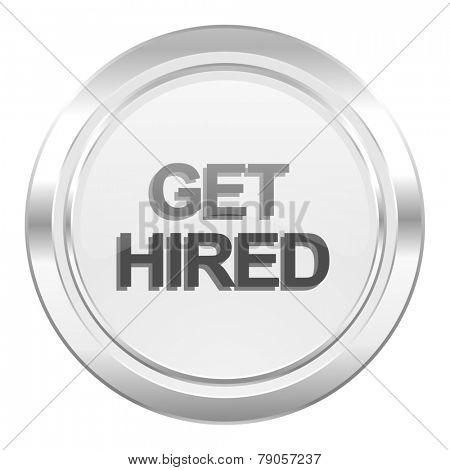 get hired metallic icon