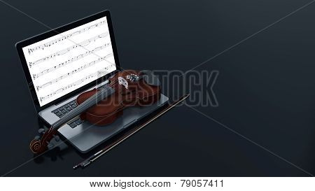 computer with Violin