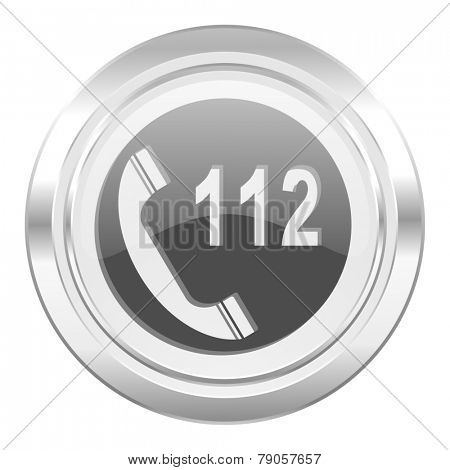 emergency call metallic icon 112 call sign