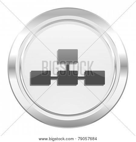 database metallic icon