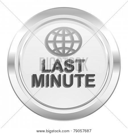 last minute metallic icon