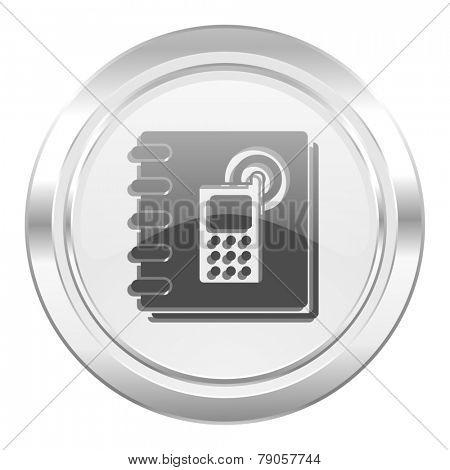 phonebook metallic icon
