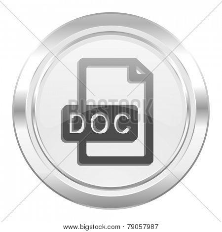 doc file metallic icon
