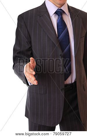 Greeting of businessman
