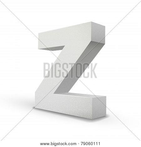 White Letter Z