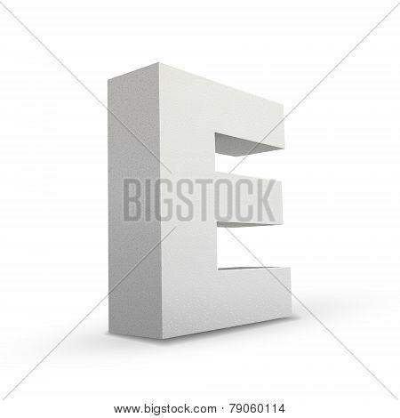 White Letter E