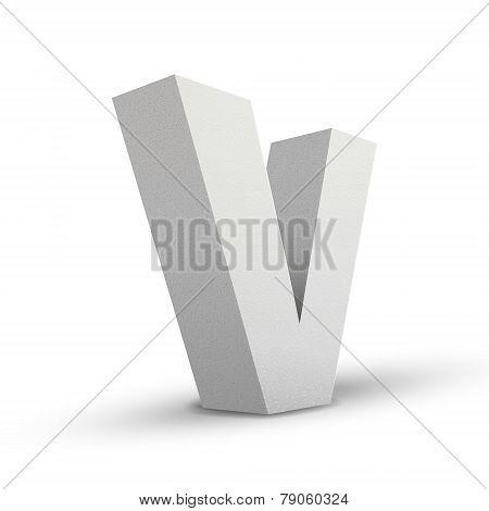 White Letter V