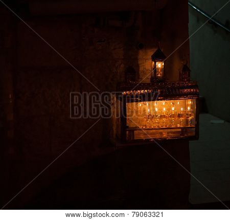Chanuka Lights In Jerusalem