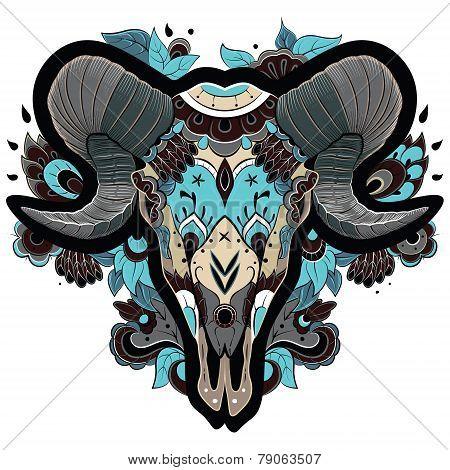 Cool Ram Skull