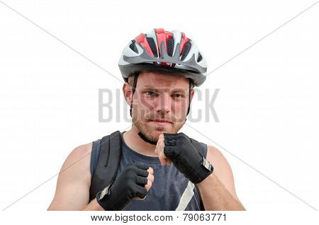 Young Man In Boxing Pose