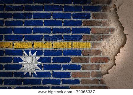 Dark Brick Wall With Plaster - Nauru