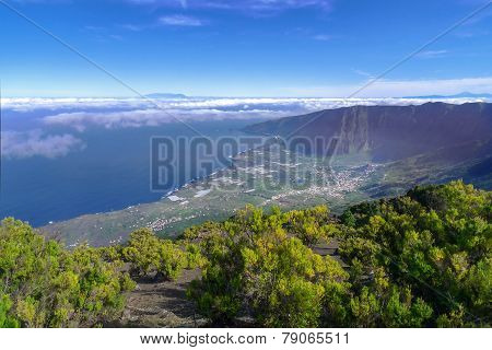 El Hierro - View from Malpaso in the El Golfo