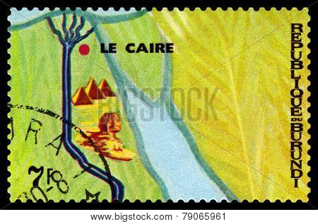 Vintage  Postage Stamp. Animals Burundi, Mouth Of The Nile.