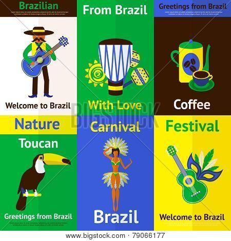 Brazil Mini Poster Set