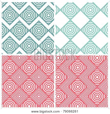Circle combine square patterns