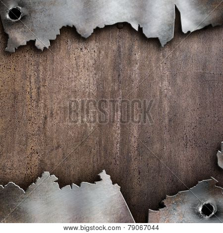 torn rusty metal background