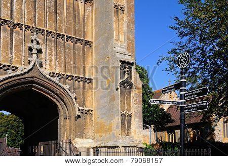 Evesham Abbey Clock tower.