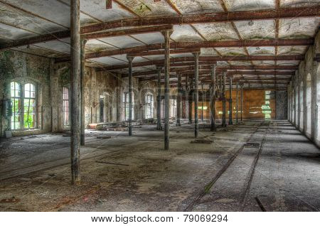Old Abandoned Building In A Factory