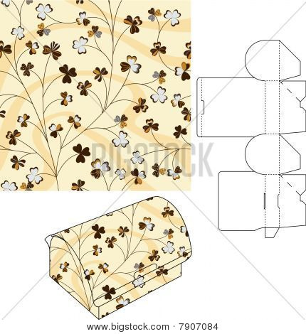 3d Gift Box Die Cut Template