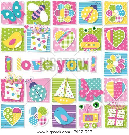 I love you pattern