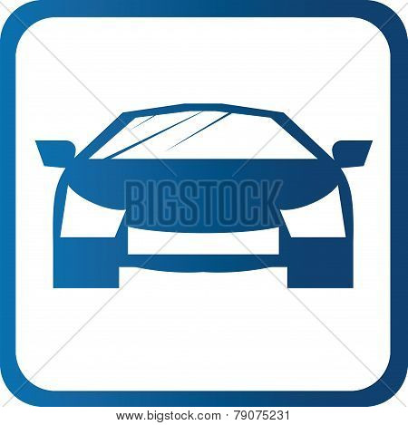 Fast car icon symbols
