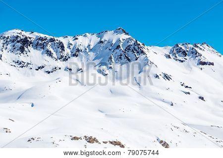 Mountain landscape in Tignes
