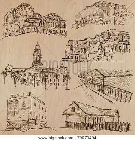 Architecture, Famous Places - Hand Drawn Vectors