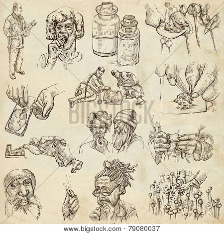 Drugs - Full Sized Hand Drawn Illustrations