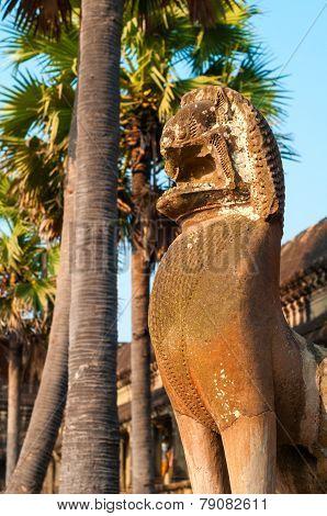 Angkor Lion Statue