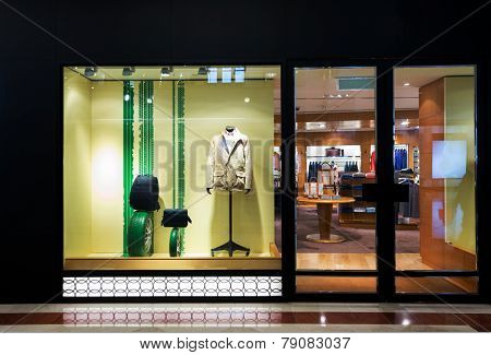 fashion clothes shop storefront