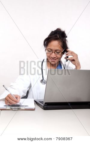 Confident Asian Doctor Medical Practitioner