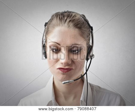 Confused receptionist