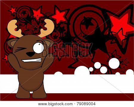 funny reindeer kid cartoon background